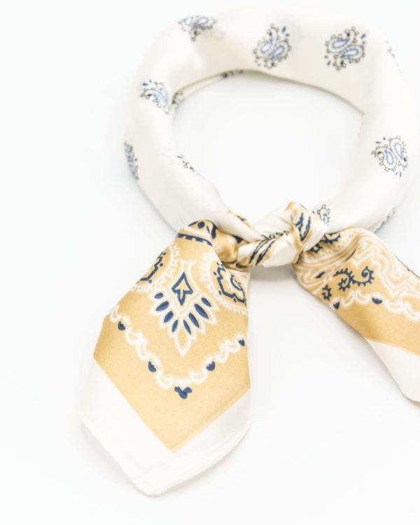 bandana doré soie pour femme