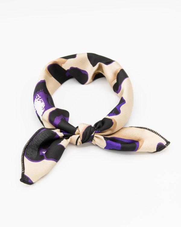 bandana foulard félin violet