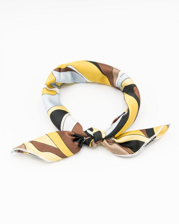 bandana géométrique jaune et marron