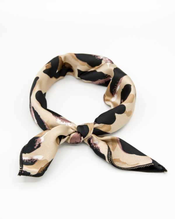 bandana beige à taches noires