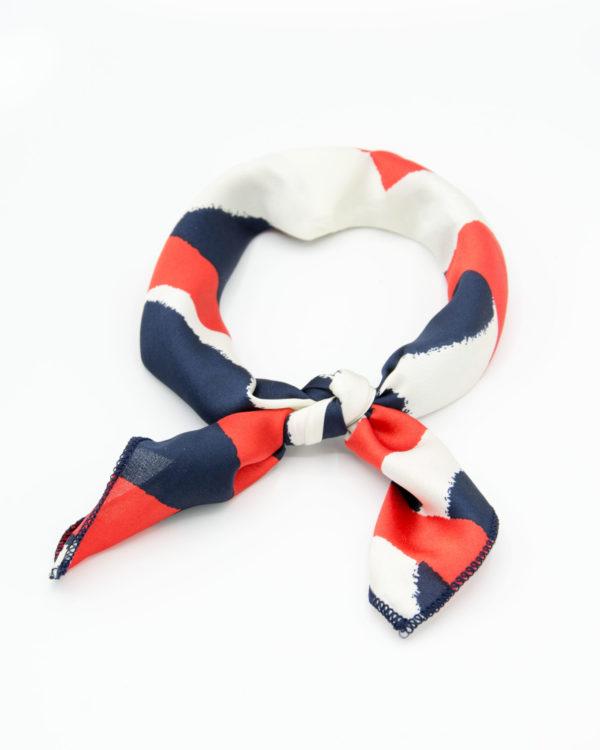 bandana bleu blanc rouge satin