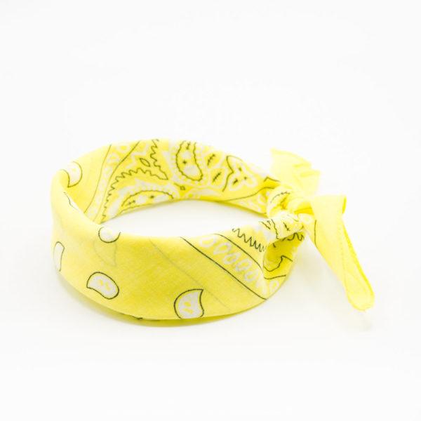 bandana paisley jaune pour homme ou femme