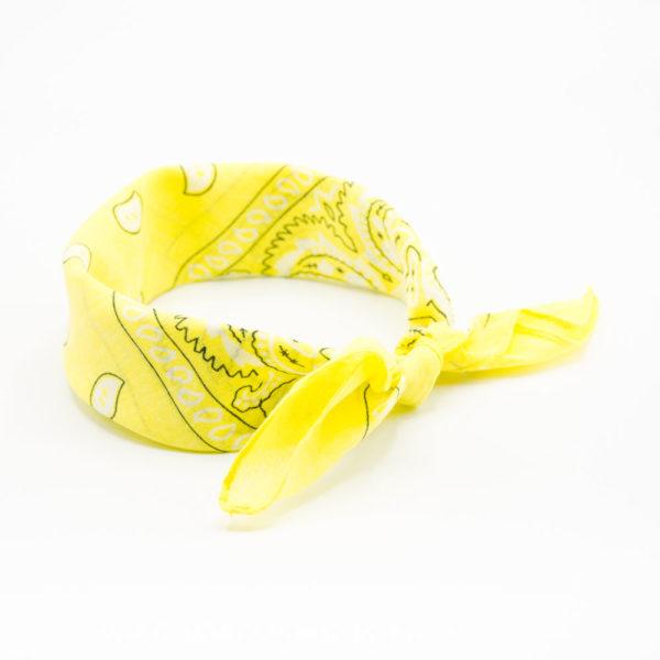 bandana paisley jaune