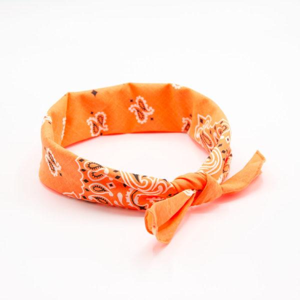 bandana orange pour homme à motif paisley