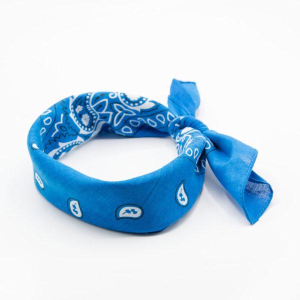 bandana bleu pour homme ou femme avec paisley