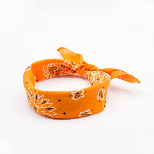 bandana orange vif pour homme