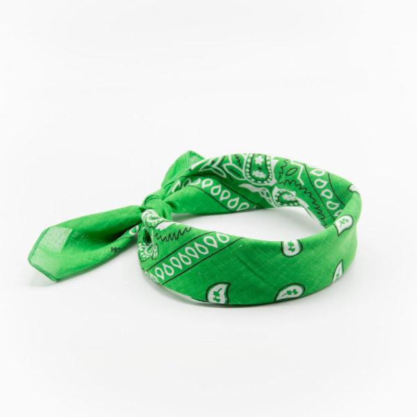 bandana vert à motif paisley pour homme et femme