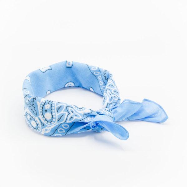 bandana bleu ciel à motif paisley pour homme ou femme