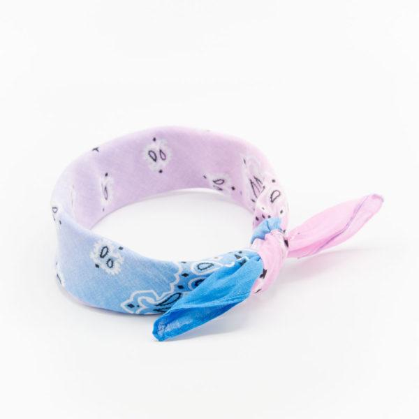 bandana à dégradé rose et bleu