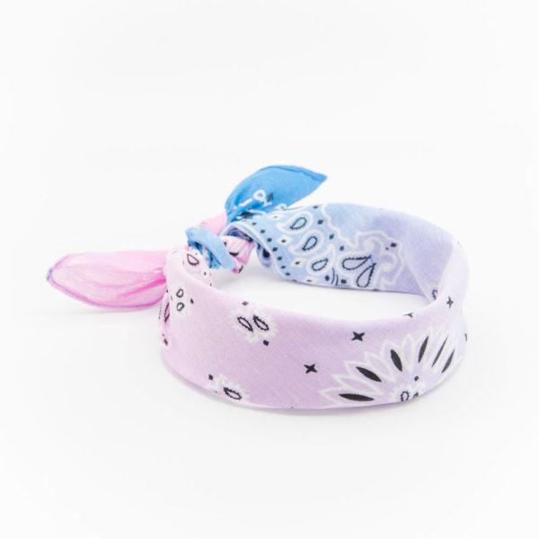 bandana pour homme ou femme à dégradé rose et bleu