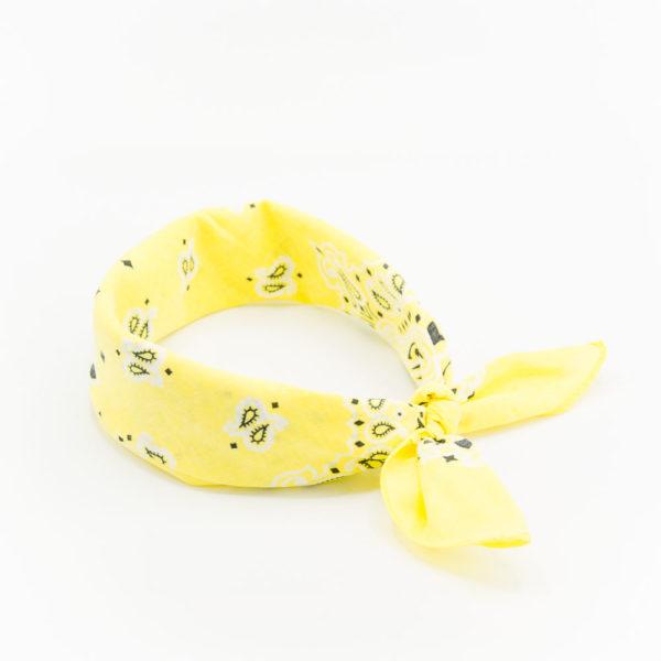 bandana à motif paisley jaune soleil pour homme ou femme