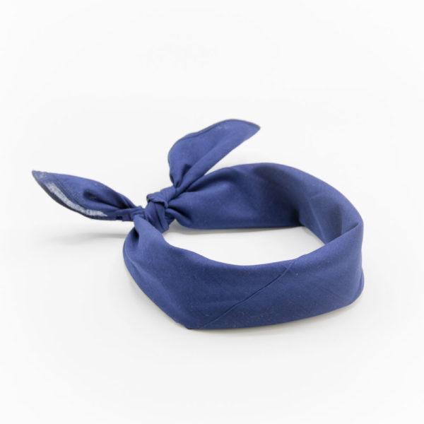 bandana homme ou femme bleu marine uni