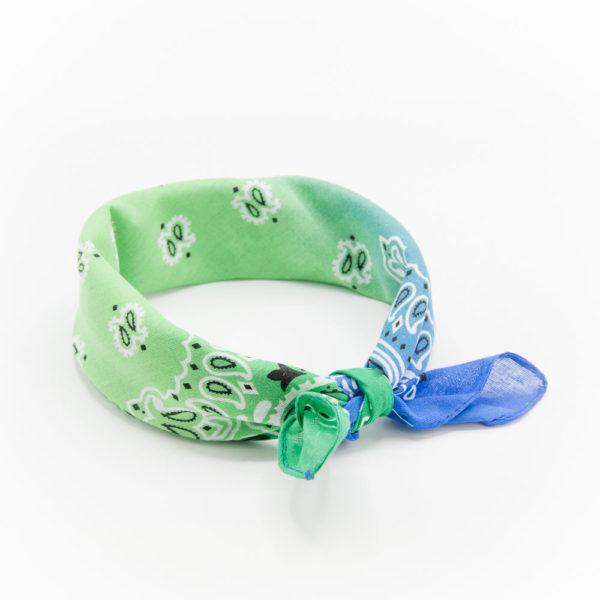 bandana avec un dégradé bleu et vert