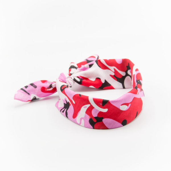 bandana militaire rose camouflage pour femme