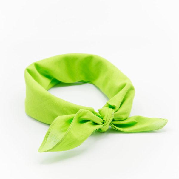 Bandana homme ou femme vert pomme uni