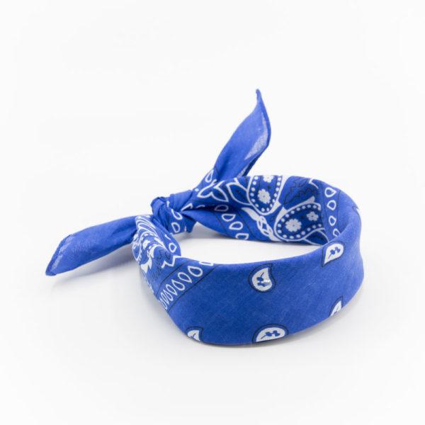 bandana homme ou femme bleu marine paisley
