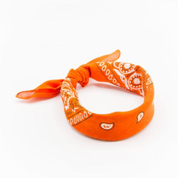 bandana homme ou femme orange paisley 1